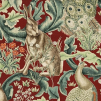 Tyg William Morris - Forest Linne - Tyg William Morris - Forest Linne Röd
