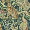 Tyg William Morris - Forest Sammet  - Tyg William Morris Forest Grön