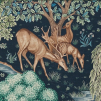 Tyg William Morris - The Brook Linne - William Morris - The Brook Blå