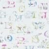 Tapet Kids - Alphabet Zoo - Tapet Kids - Alphabet Zoo Pastell Multi