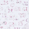 Tapet Kids - Alphabet Zoo - Tapet Kids - Alphabet Zoo Rosa