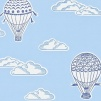 Tapet Kids - Balloons - Tapet Kids - Balloons Blå
