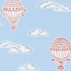 Tapet Kids - Balloons - Tapet Kids - Balloons Röd