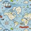 Tyg Kids - Treasure Maps - Tyg Kids - Treasure Maps Blå
