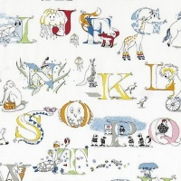 Tyg Kids - Alphabet Zoo Broderad