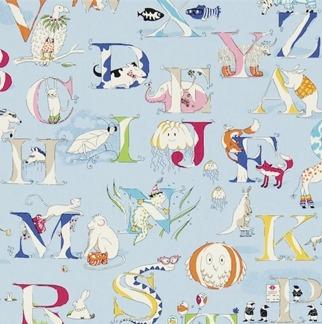 Tyg Kids - Alphabet Zoo - Tyg Kids - Alphabet Zoo Blå