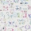 Tyg Kids - Alphabet Zoo - Tyg Kids - Alphabet Zoo Pastell Multi