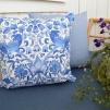 Kudde William Morris - Lodden Blå