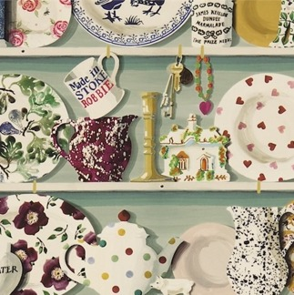 Tyg Emma Bridgewater - The Dresser - Tyg Emma Bridgewater - The Dresser Duck egg