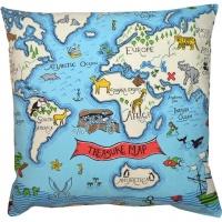 Kudde Kids - Treasure Map Blå
