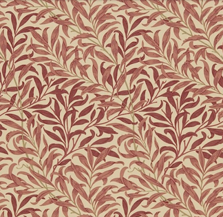 Gardinlängd William Morris - Willow Bough Röd - Längd < 1,85 WB Röd