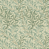 Gardinlängd William Morris - Willow Bough Grön