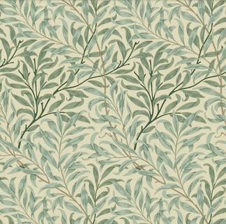 Gardinlängd William Morris - Willow Bough Grön - Längd < 1,85 WB Grön