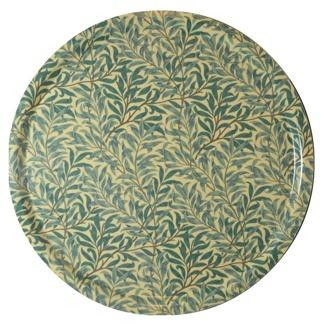 Rund bricka 46 William Morris - Willow Bough Minor Grön