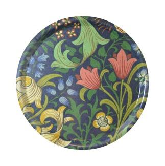 Rund bricka 31 William Morris - Golden Lily Mörkblå