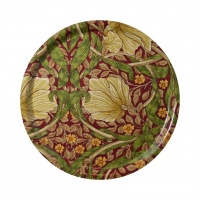 Rund bricka 31 William Morris - Pimpernel Röd