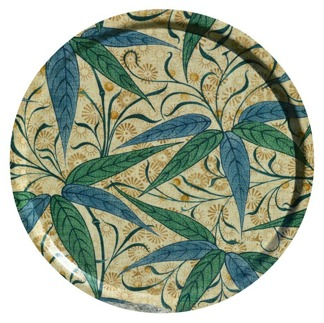 Rund bricka 46 William Morris - Bamboo Grön
