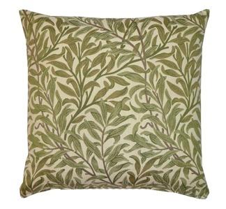 Kudde William Morris - Willow Bough vävd Grön