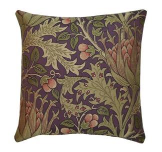 Kudde William Morris - Artichoke Lila