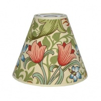 Lampskärm William Morris - Golden Lily med Toppring 19 Creme