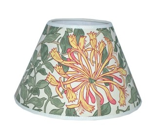 Lampskärm William Morris - Honeysuckle Rund 17