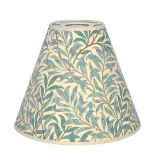 Lampskärm William Morris - Willow Bough Minor med Toppring 19 Grön