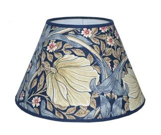 Lampskärm William Morris - Pimpernel Rund 17 Blå