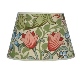 Lampskärm William Morris - Golden Lily Oval 17 creme