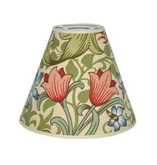 Lampskärm William Morris - Golden Lily med Toppring 19 Creme