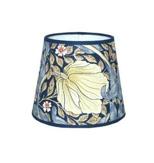Lampskärm William Morris - Pimpernel rund 14 Blå