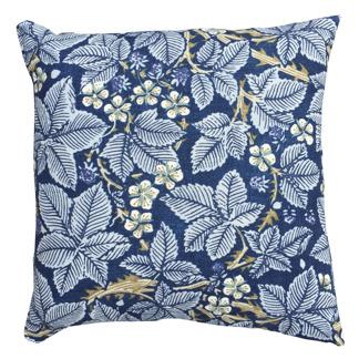 Kudde William Morris - Bramble Mörkblå
