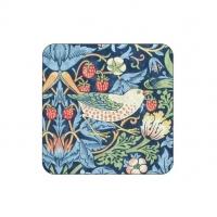 Coasters William Morris - Strawberry Thief Blå