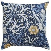 Kudde William Morris - Seaweed Gul/blå