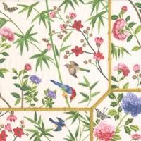 Pappersservett Caspari - Chinese Wallpaper cream
