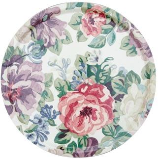 Rund bricka 46 Sanderson - Midsummer rose