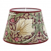 Lampskärm William Morris - Pimpernel Aubergine oval 17