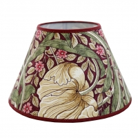 Lampskärm William Morris - Pimpernel Aubergine Rund 17