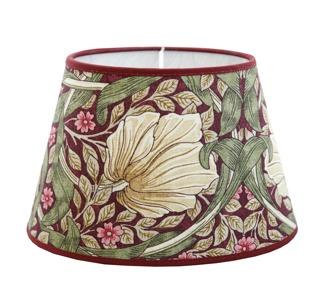 Lampskärm William Morris - Pimpernel Aubergine oval 17