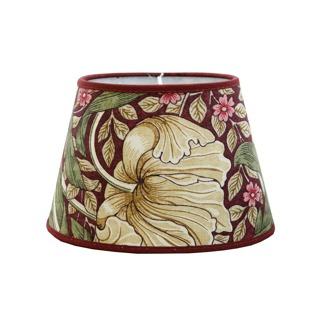 Lampskärm William Morris - Pimpernel Aubergine oval 14