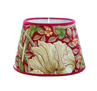 Lampskärm William Morris - Pimpernel Röd oval 14