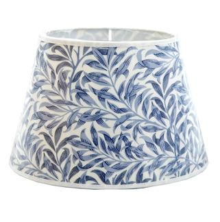 Lampskärm William Morris - Willow Bough Minor Oval 17 Blå