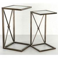 Bord/Spegel Metallic Brun