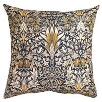 Kudde William Morris - Snakeshead Mörkblå