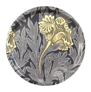 Rund bricka 31 William Morris - Tulip Mörkblå