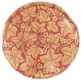 Rund bricka 46 William Morris - Bramble Röd