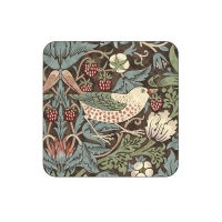 Coasters William Morris - Strawberry Thief Brun