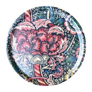 Rund bricka 31 William Morris - Wandle Röd