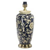 Li Jing Lampfot Porslin - Blom Blå/svart 49 cm