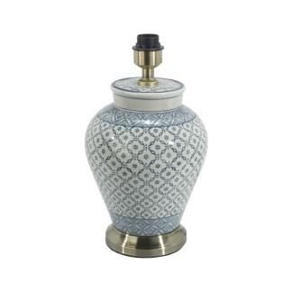 Fong Hong Lampfot Porslin - Lill BlåGrå/Vit 38 cm