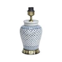 Mi Hong Lampfot porslin - Lill BlåGrå/Vit 34 cm
